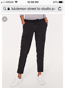 Looking for Lululemon Street to Studio pants size 4 or 6