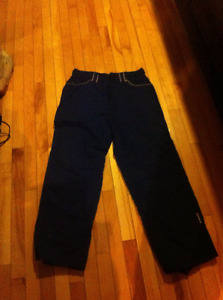 NFA Navy Blue Snowboard Pants Children's Large