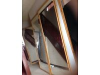 Long Wardrobe mirror sliding doors 2 parts very good condition £80