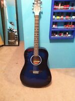 Black and blue Beaver Creek acoustic guitar for sale