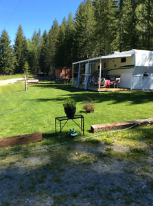 5th wheel for rent at Moyie lake
