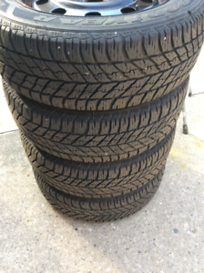 Goodyear Snow Tires and Rims (235/55R17)
