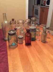 Antique jars and bottles