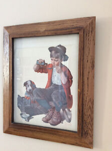 Norman Rockwell rustic  picture 18X15  .