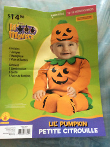 Toddler Halloween pumpkin costume