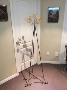 Decorative wrought iron easel