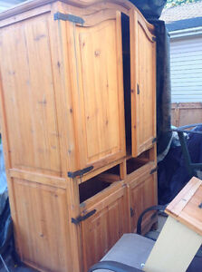 Pine Cupboard over 6 feet tall  * DELIVERY INCLUDED WITHIN 20km