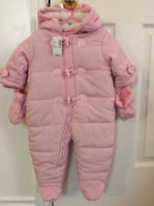 The Children's Place infant 6-9 months Snowsuit Pink New