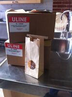Two boxes of 1/2 litre kraft bags