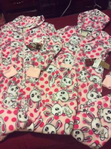 Pink and white Onesie Pajamas (set of 2)