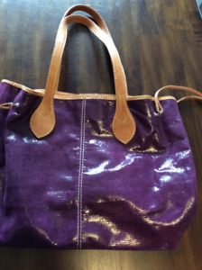 Purple Leather Purse