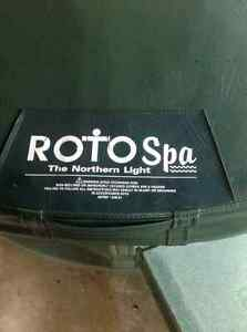 Rotospa hot tub 20 jet tub  new sandstone light brown 110v 220v