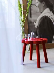 3 red solid stool Ryssby NEW in box