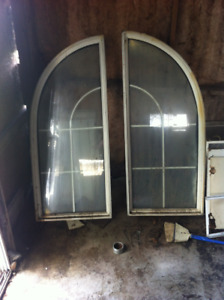 2 arch top vinyl windows thermopane glass