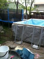 12 foot trampoline used for a month