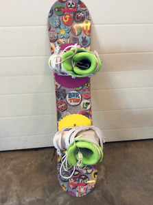120 Burton Board with boots and bindings