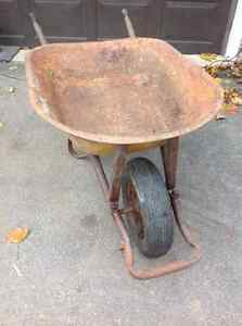 Solid strong steel wheelbarow up to 6 cu