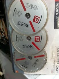 Pack of 3 diamond Tile Cutter Discs NEW