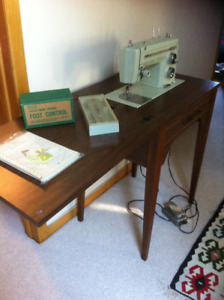 Sears sewing machine with table