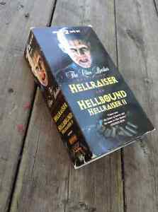 Hellraiser and Hellraiser II special 2 tape set VHS