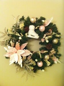 """Made by me Christmas wreath """"Pretty in pink"""""""