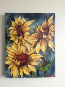 "Peinture de Marie Andrée Leblond, ""Tressade"""