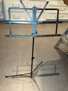 Adjustable and collapsible music stand for sale