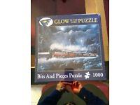 New glow in the dark train puzzle