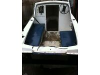 14ft fishing boat hull only
