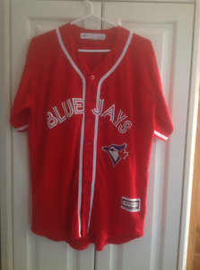 TORONTO BLUE JAYS MEN'S CANADA DAY RED REPLICA JERSEY(2-Size Sm)