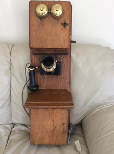 Antique Stromberg Carlson Wooden Telephone