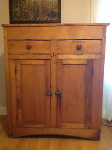 Antique pine jam cupboard