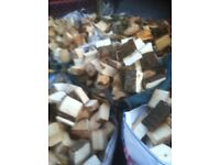Bulk ton bags of hard wood logs
