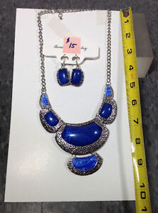 Fashion necklaces with matching earrings - BRAND NEW - box CC