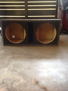 Subwoofer box and amps