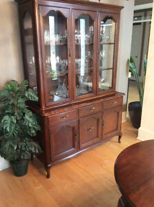 Gibbard Dining Table Buffet and Hutch and 6 chairs