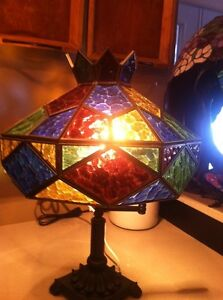 Christmas Colours Stained Glass Lamp