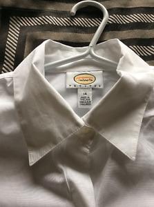 Washed but not worn Talbots 14 petite white blouse