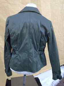2 ladie's coats for 1 price - brown moto & green army Cambridge Kitchener Area image 6