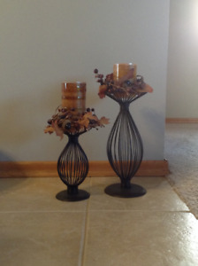 Decorative candles and holders