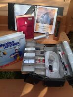 Lubrication manuals and oil test kit.