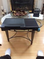 Folding computer desk for lap or bed
