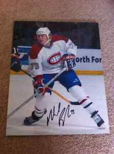 Signed 8 x 10 picture of Michael Ryder Montreal Canadiens