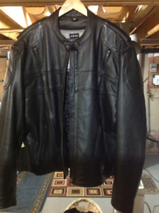 Screaming Eagle Black Leather Vented  Motorcycle Jacket XXXL