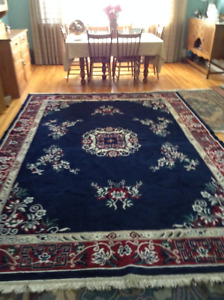 New Price.Large 'Oriental' Style Rug. 8' x 13'.  Red's & Blue's.