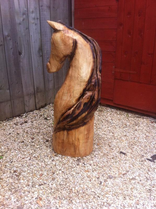 Chainsaw carved horse in brough east yorkshire gumtree