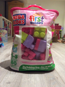 Mega bloks - First builders - Sac de blocs rose