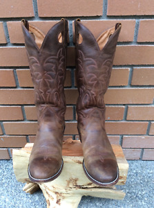 Men's 10 1/2 AA Cowboy Boots - Alberta Boot -  Custom Size