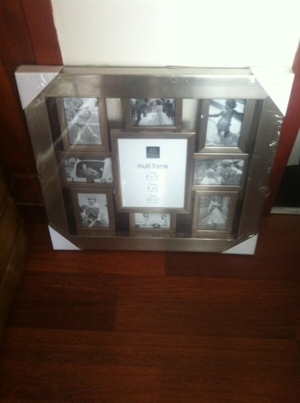 Pagazzi Multi Picture Frame In Pewter Silver New