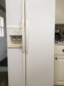 French doors refrigerator/freezer with water and ice dispenser